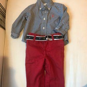 Ralph Lauren three piece set-100% cotton. 9 months